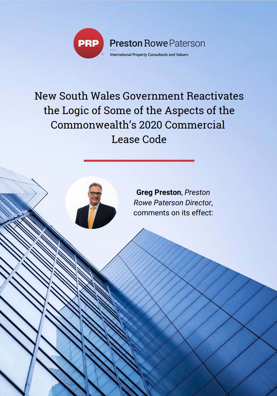 NSW Commercial Leasing Code Update