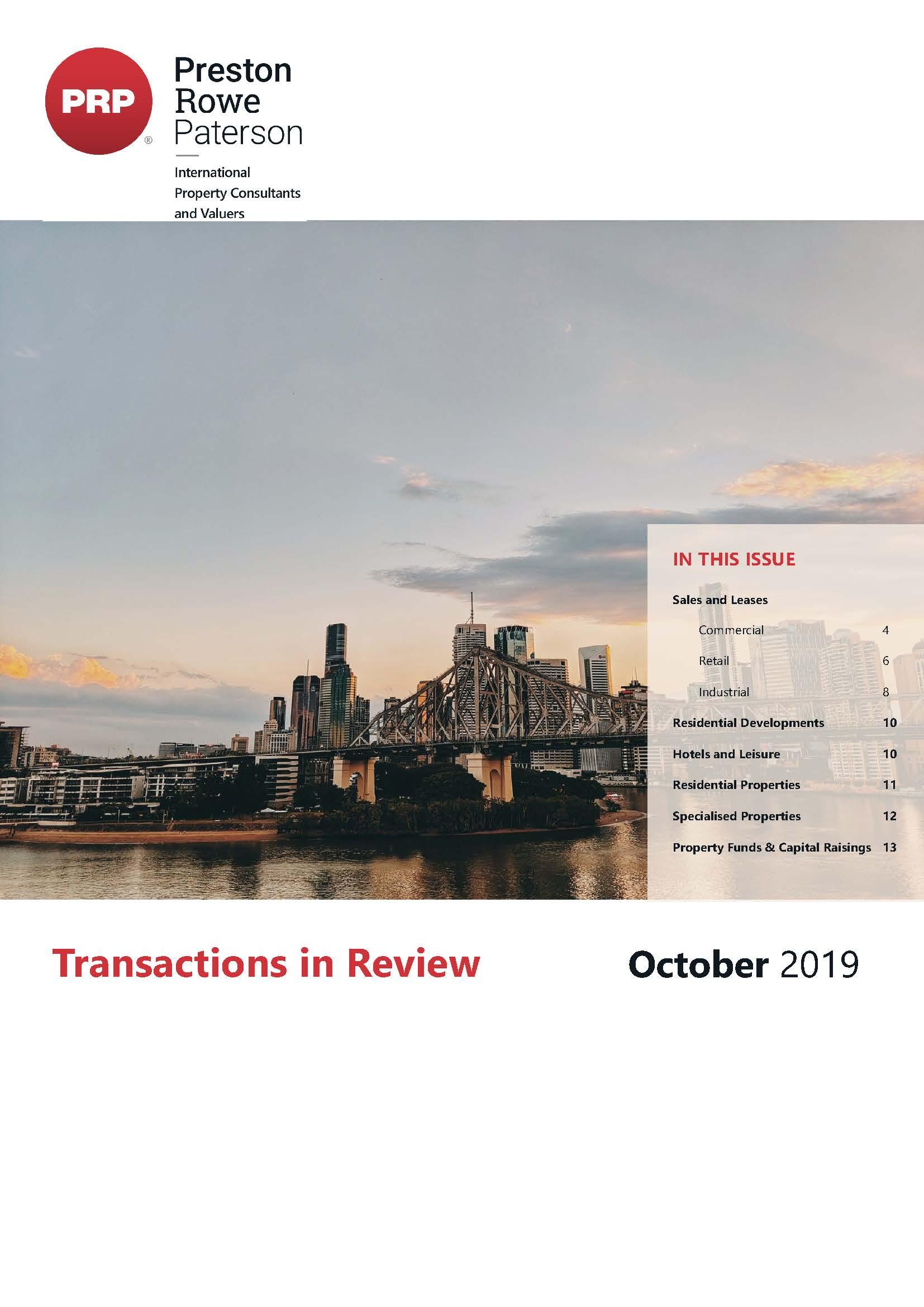 TIR October 2019
