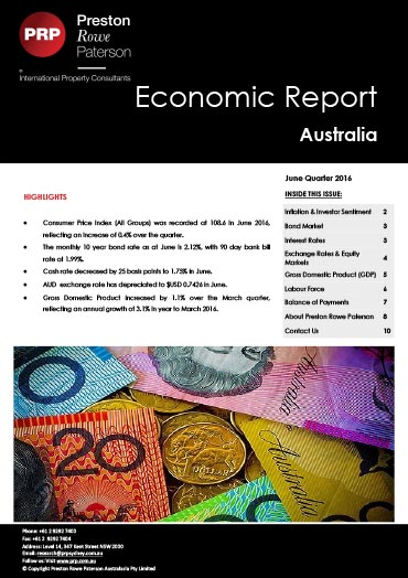Economic Report June 2016