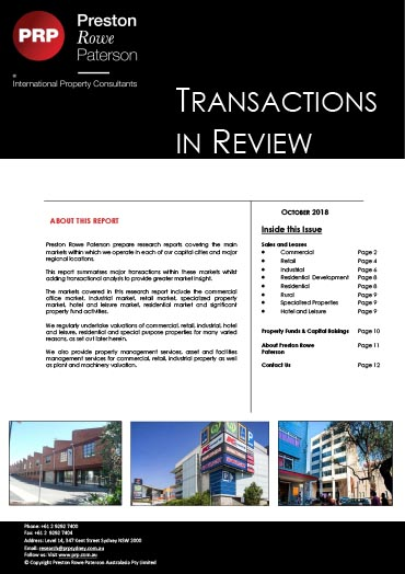 October-2018-Transactions-In-Review